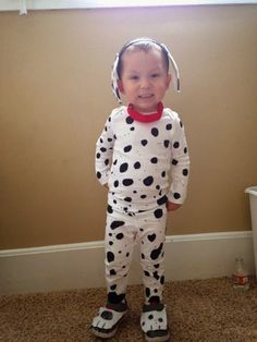 DIY Dalmatian, Firefighter, and Firetruck Wagon! Brother Costumes.
