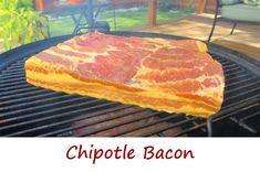 This chipotle bacon had a mild chipotle flavor. The first time I made it I was way too shy with the chipotle, and although it was fantastic, it didn't have much of that great smokey chipotle flavor. I recommend you be quite liberal with the chipotle peppers. We aren't making cheesecake here. Use a lot of chipotle.