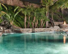 Tropical Pool Poolside Landscape Design,