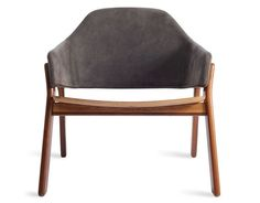Clutch Leather Lounge Chair by Blu Dot Leather Lounge, Leather Chairs, Leather Clutch, Side Chairs, Plush, New Homes, Interior Design, Furniture, Home Decor