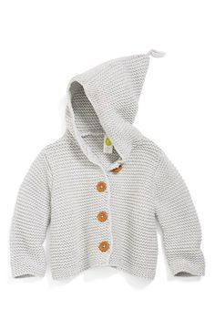 Stem Baby 'Lofty' Organic Cotton Hooded Cardigan (Baby Girls) available at #Nordstrom