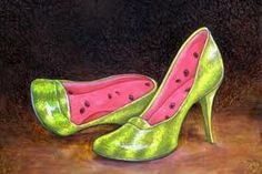 Water Melon shoes by Vladimir Tretchikoff