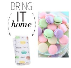 """""""Bring It Home: Simons Maison Macarons Napkin"""" by polyvore-editorial ❤ liked on Polyvore featuring interior, interiors, interior design, home, home decor, interior decorating and bringithome"""