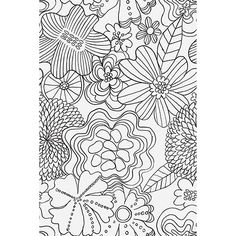 Mindfulness coloring flowers mindfulness coloring free for Harpsichord coloring page