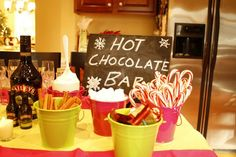 Ideas for hot chocolate bar