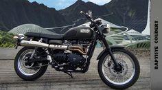 Jurassic World 2015 (Jurassic Park 4) Owen's Motorbike Triumph Scrambler 900  (background: Nathan Schroeder) 100% Accurate | by Baptiste Coudert Reviews