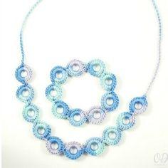 Infinite Hope Necklace & Bracelet featured on CrochetSquare.com