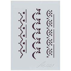 Plantilla de Stencil Frisos (15x10,5cm) A6-021