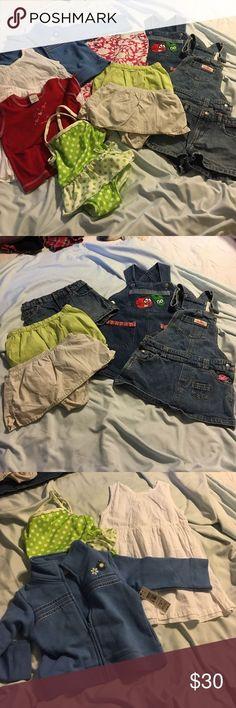 Tendance salopette 2017  Tendance salopette 2017  Bundle girls size 2 summer. 10 items. Wonderkids blue f