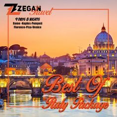 Best Of Italy Package (8 Nights - 9 Days) *Rome -Naples-Pompeii-Florence-Pisa-Venice * Airport Transfers * Guided Daily Tours  Contact us now info@zegantravel.com http://www.zegantravel.com/Best-Of-Italy-Package #italy #rome #naples #pompeii #florence #pisa #venice