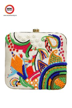 #clutch #party #accessories #fashion #handbag #slingbag #wowtrendy Made of Premium Material with Detailed Design. Add this Attractive Clutches in your wardrobe.