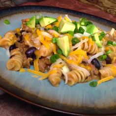 Southwest Beef and Pasta Skillet