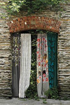 Safia Embroidered Curtain // love these patterns Home Curtains, Pleated Curtains, Outdoor Curtains, Outdoor Spaces, Outdoor Living, Outdoor Decor, Interior And Exterior, Interior Design, Deco Boheme