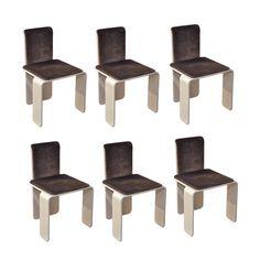 Set Of 6 Chairs  BELGIUM  CIRCA 1970
