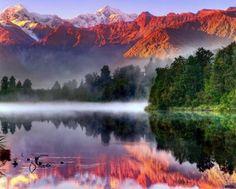Lake Matheson New Zealand (80 pieces)