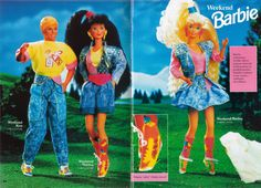 90s Barbie - LOVE! I remember those shoes!