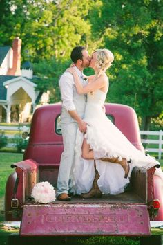 I loooove how he's holding her dress :). So adorable.