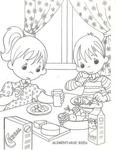 Děti jíst zdravé, Omalovánky