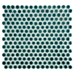 SomerTile 'Penny' Emerald Porcelain Mosaic Tile (Pack of 10) | Overstock.com Shopping - Big Discounts on Wall Tiles