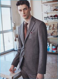 English model Matthew Bell suits up for a new style guide from Mango Man.