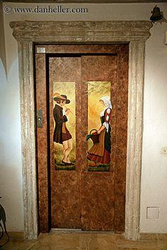 Elevator door mural ~ Grasse, Provence, France