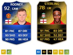 Would you like to see Wayne Rooney downgraded and Raheem Sterling upgraded in FIFA 15 ratings?