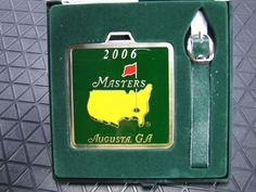 The Masters Augusta, GA 2006 Official Bag Tag - MINT In Case GOLF NEW with tag #TheMastersTournament