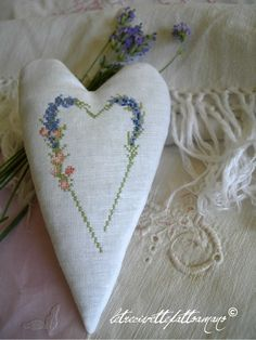 embroidered heart..