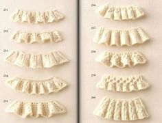 Knitting Pattern Book 260 by Hitomi Shida Lace Knitting Stitches, Knitting Paterns, Loom Knitting, Baby Knitting, Lace Patterns, Crochet Patterns, Pattern Books, Ruffles, Free Pattern