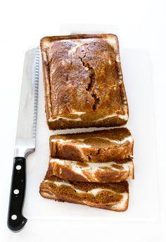 Pumpkin Cream Cheese Bread | chefsavvy.com Pumpkin Cream Cheese Bread, Moist Pumpkin Bread, Healthy Pumpkin, Pumpkin Puree, Pumpkin Loaf, Pumpkin Spice, Easy Desserts, Dessert Recipes, Pumpkin Dessert