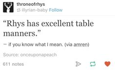 Rhysand's table manners