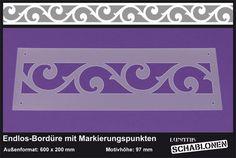 Schablone XL Bordüre Ornament Floral - LB40   von Lunatik-Style via dawanda.com