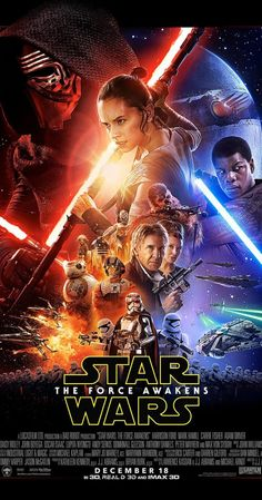 *STAR WARS: Episode VII-The Force Awakens, 2015...Directed by J.J. Abrams. With Harrison Ford, Mark Hamill, Carrie Fisher, Adam Driver. A continuation of the saga created by George Lucas set thirty years after Star Wars: Episode VI - Return of the Jedi (1983).
