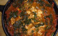 Red Capsicum & Spinach Fish Stew