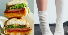 Eat Your Way Through This Buffet And We'll Accurately Guess What Color Socks You're Wearing Right Now Lox And Bagels, Fried Apple Pies, Broccoli Cheddar, Salad Sandwich, Chocolate Muffins, Grilled Salmon, Chicken Rice, Mushroom Soup, Roasted Potatoes