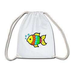 Geschenke Shop | Bunter Fisch - Turnbeutel Shops, Drawstring Backpack, Backpacks, Bags, Fashion, Sports Activities, Gymnastics, Handbags, Moda
