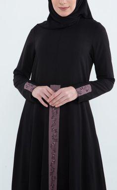 Muslim Dress, Hijab Dress, Hijab Fashion, Turtle Neck, Touch, Sweaters, Black, Dresses, Vestidos