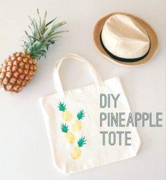 diy pineapple potato stamp market bag!