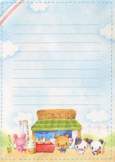 Summer Ice Stand 001 | by Kawaii Stationery Scans
