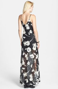 ASTR Floral Appliqué Lace Maxi Dress (Nordstrom Exclusive) | Nordstrom