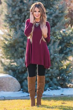 The perfect high neck swing tunic to pair with leggings. Fabric 95% Rayon 5%Spandex                                                                                                                                                      More