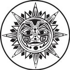 Aztec Sun Stone Coloring Pages