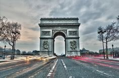 Arc de triomphe on the Charles de Gaulle square in Paris, France