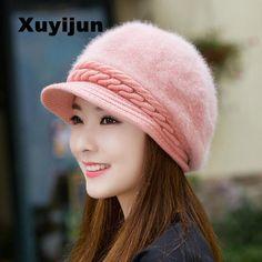 XUYIJUN Visón y zorro gorra de piel de invierno sombrero de las mujeres  chica sombrero de d63a4a8bbdf