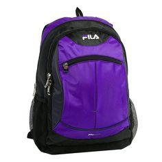 Laptop Backpack FILA Tempo 15.6-inch-Purple/Black - Back to School #FILAModelFLBP1075PL #LaptopBackpack