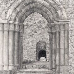 Arches Arches, Black And White, Architecture, Painting, Art, Bows, Black White, Blanco Y Negro, Painting Art