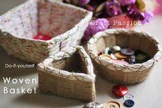 фото поделки из бечевки, стильные коробочки для мелочей МК