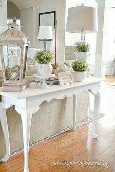 Cute entryway table