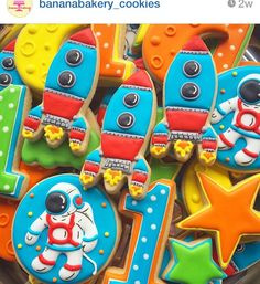 Astronaut rocket cookies