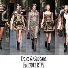 Dolce & Gabanna Fall 2012